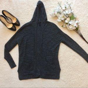 ‼️AMERICAN EAGLE Women's Hooded Gray Open Cardigan